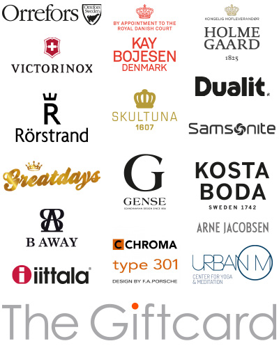 the giftcard brands all
