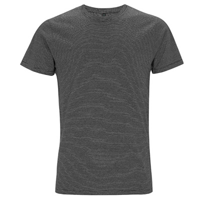 unisex jersey t shirt pinstripes vit svart