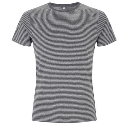 unisex jersey t shirt stripes svart morkgra