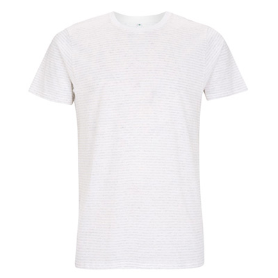 unisex jersey t shirt stripes vit vitmelange