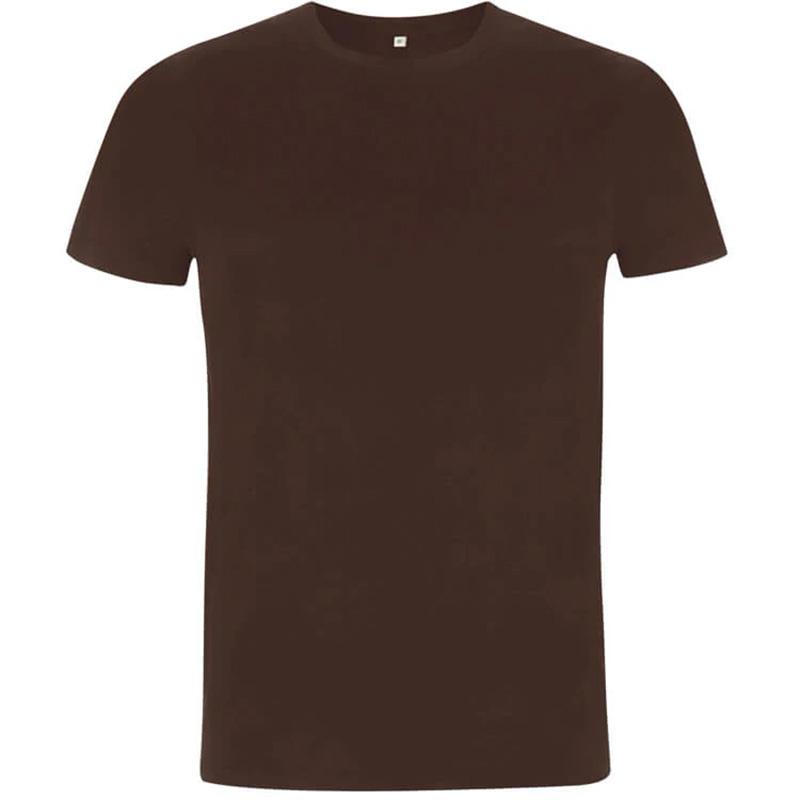 unisex organic cotton t shirt 3 dark brown