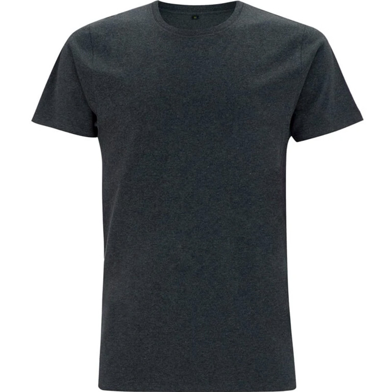 unisex organic cotton t shirt 3 melange black