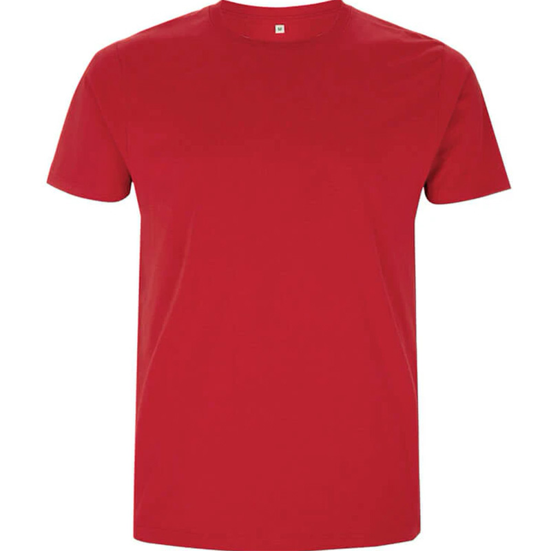 unisex organic cotton t shirt 3 red
