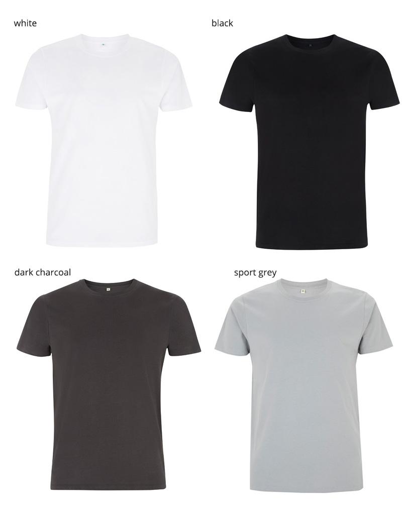 unisex t shirt EP100 farger 1
