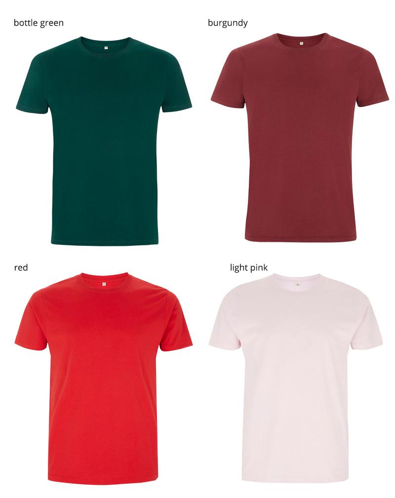 unisex t shirt EP100 farger 3