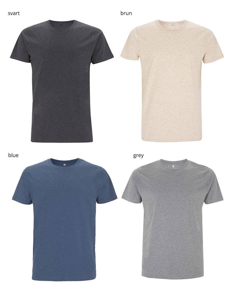 unisex t shirt EP100 melange 1 farger