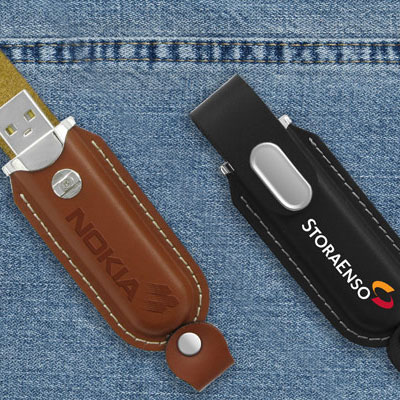 usb minne leather