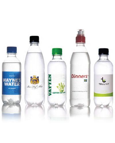 vatten m egen etikett