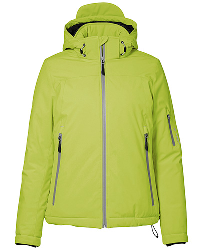 vinter softshell fram dam 0899 lime