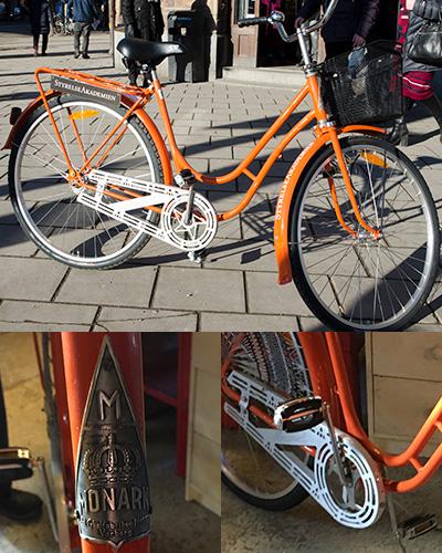 Retro cykel med logo