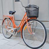 Retro-cykel med logo
