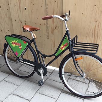 Cykel med logo