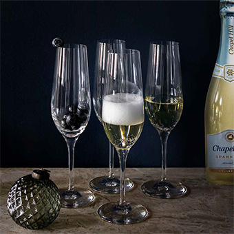 Edgeglas + alkoholfritt bubbel