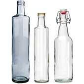Glasflaska återvunnen