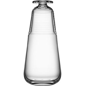Karaff med litet glas