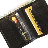 Miniplånbok i skinn