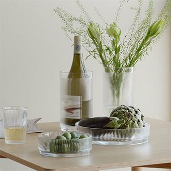 Pilastro glas, skålar & vinkyl