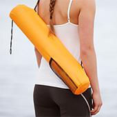 Yogamatta med väska
