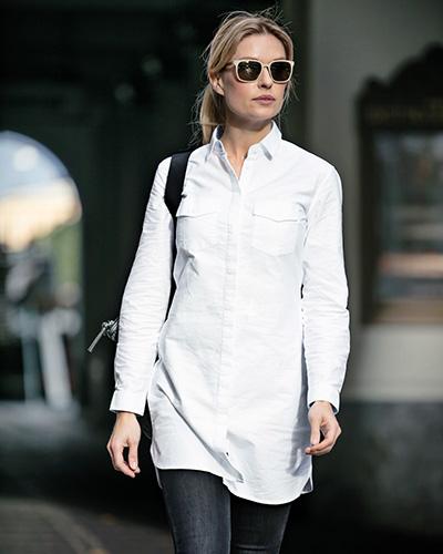 augusta skjorts vit miljo