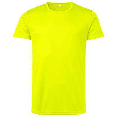 funktions t shirt herr gul fluo