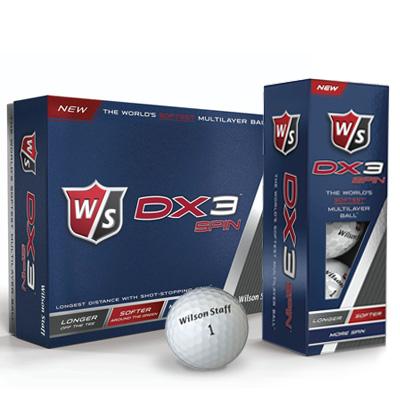 golfboll wilson staff dx3 spin