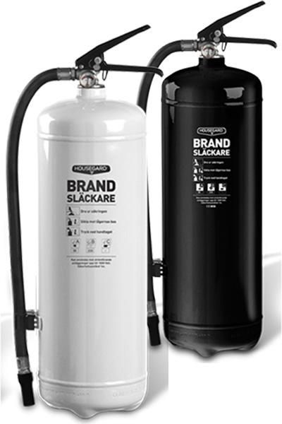 housegard pulverbrandslackare vit o svart