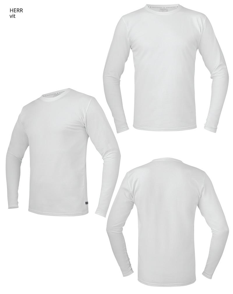 langarmadt shirt TS17 vit