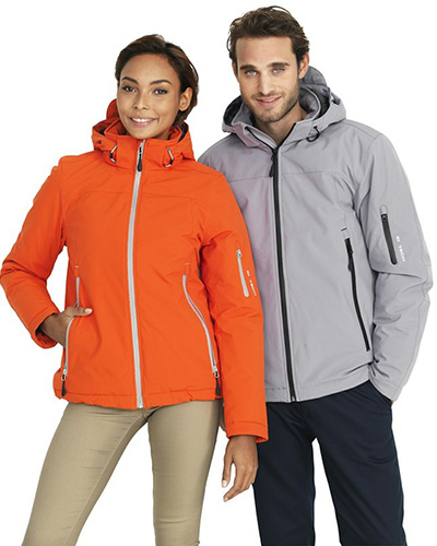 vinter softshell orange