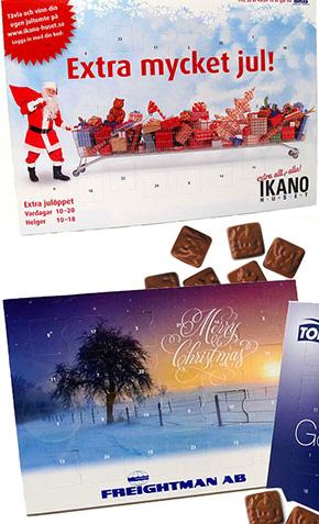 chokladkalender med tryck