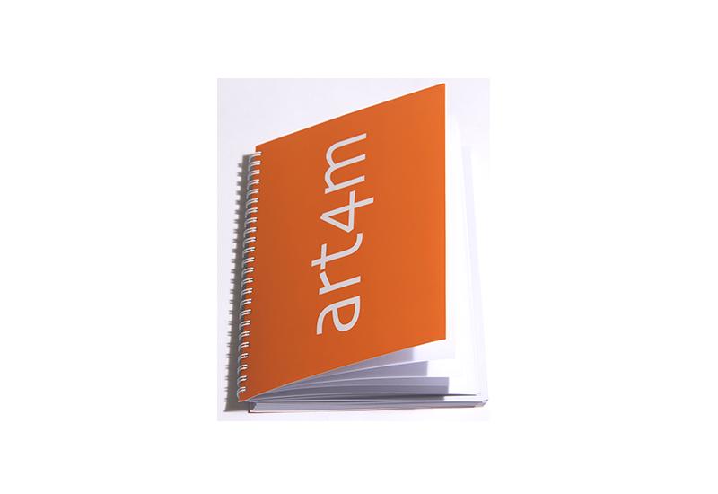 Block och papper med eget tryck Art4m Profilprodukter