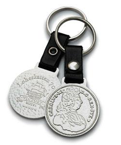 Nyckelring för Victory Hotel i form av mynt från Lohe-skatten